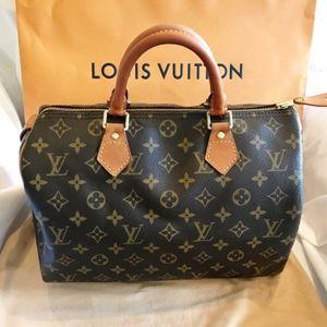 Louis Vuitton Monogram Classic Speedy 30 Bag